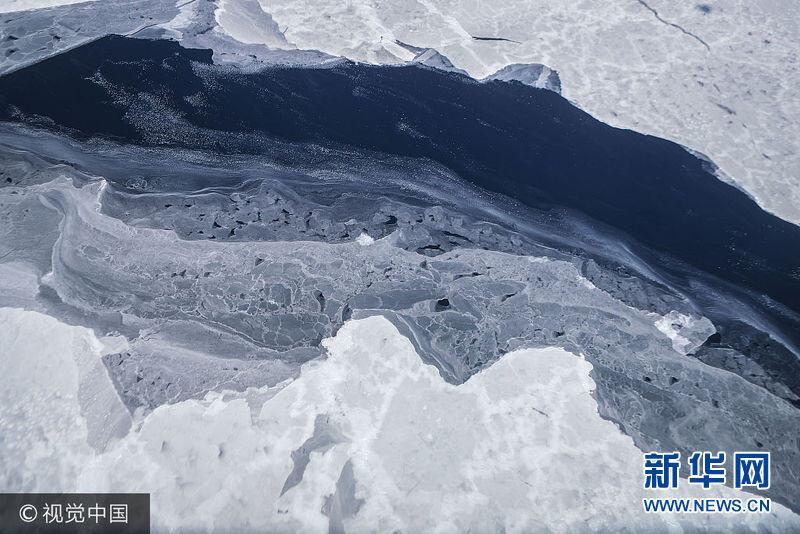 """NASA""""冰桥行动""""观测南极半岛山脉冰川 纯白天地如梦似幻(组图)"""