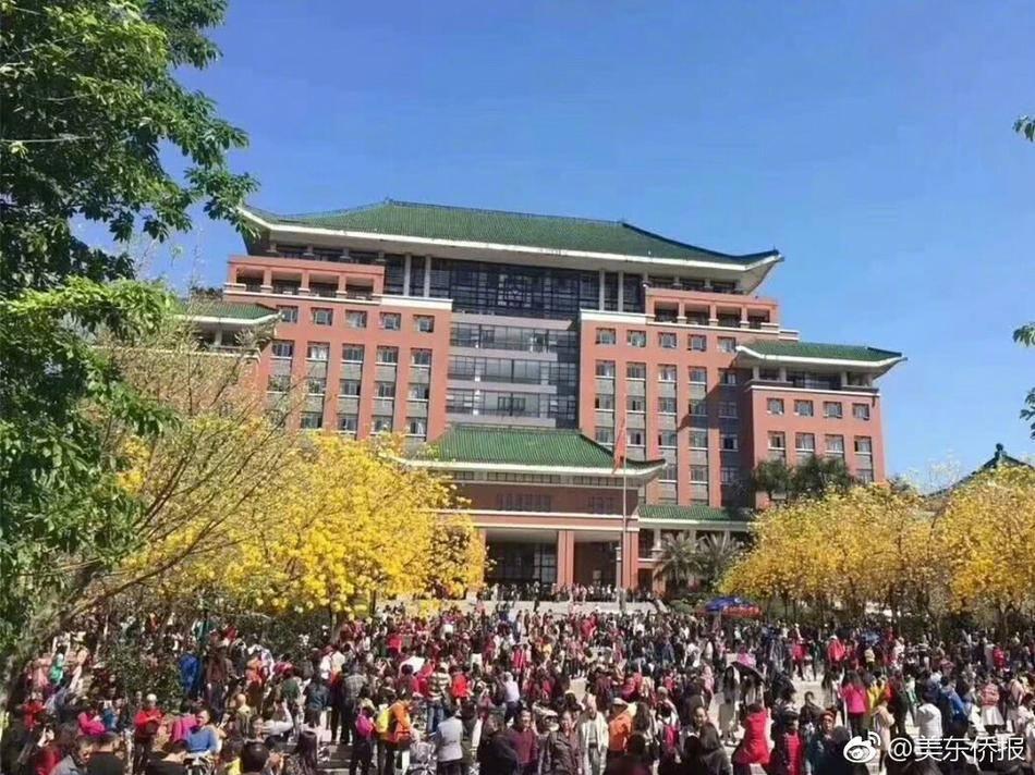 10万人涌入大学校园赏花 学生吓得不敢出门