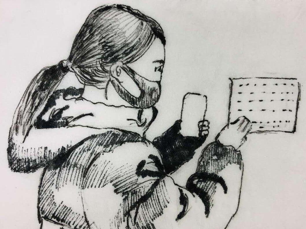 """石拐區""""95後(hou)""""女孩,用衛生紙作畫記錄防控(kong)故事"""