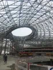 世界最大的在建航站楼钢架结构即将竣工  包钢无缝钢管用量占比八成