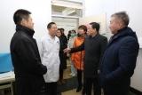青山区卫生局和疾控中心领导到北方医院检查狂犬病预防门诊工作