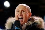 俄民众集会庆总统选举结束 普京出席慷慨激昂