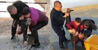 【暖新闻】男童掉入冰窟命悬一线 众人见义勇为施救成功