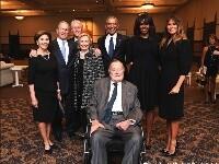 美国4位总统、4位第一夫人合影