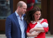 凯特王妃三胎产子 英王室迎来王位第五顺位继承人