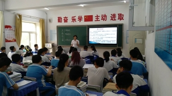 包四十八中迎接青山区教育局初三中考复习备考调研
