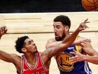NBA常规赛:勇士胜公牛