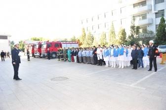 大奖娱乐888_包头市中心医院举行2018年度下半年消防应急疏散演练