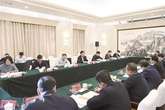 張院忠參加指導青山區委常委班子2018年度民主生活會