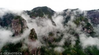 浙江天姥山:云雾缭绕?#33889;?#22659;