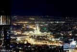 俯瞰莫斯科夜景灯光璀璨 华丽大都市尽收眼底