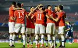 """美洲杯卫冕冠军智利队首秀战胜日本""""青年军"""""""