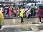 大雨之下,包头交警感人一幕幕……