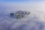 山西运城出现平流雾景观