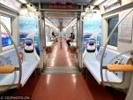2022冬奧專列亮(liang)相地鐵(tie)1號線