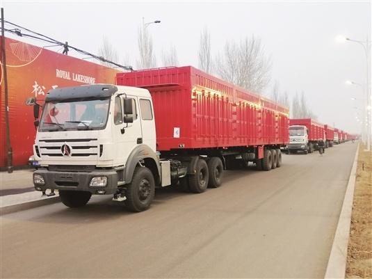 北奔30台重载牵引车发往蒙古