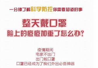 整天戴口罩(zhao),臉上的痘痘huan)jia)重了(liao)怎麼(me)辦?