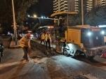 昼夜奋战,全市500多处道路破损全面修复