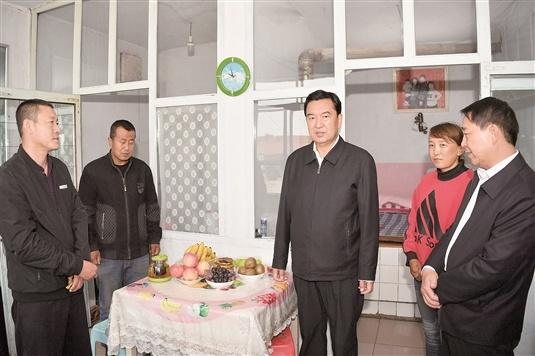 张院忠在固阳县调研脱贫攻坚工作