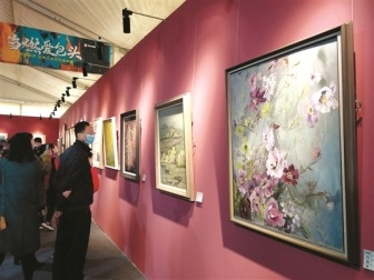 美术展里的包头工业文化