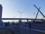 速看!110国道人行天桥主体工程11月底完工