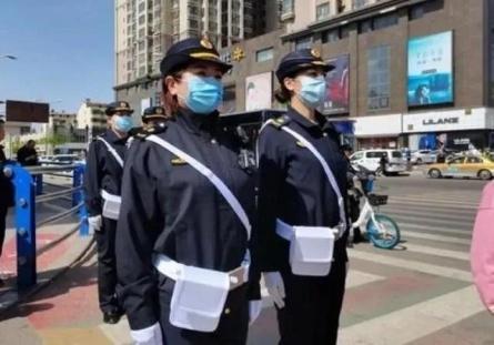 包头街头现女子城管队,柔性执法成风景线!