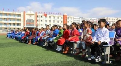 达茂旗蒙古族学校:书声琅琅 秩序井然