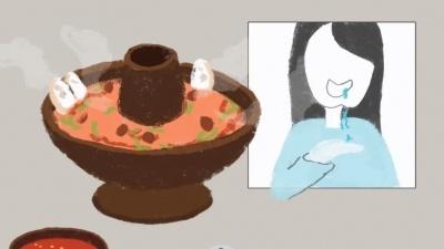 """原创漫画丨吃火锅却吃了个""""寂寞"""""""